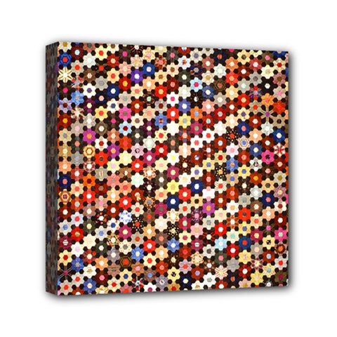 Mosaic Pattern Quilt Pattern Mini Canvas 6  X 6  (stretched)