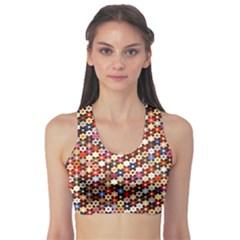 Mosaic Pattern Quilt Pattern Sports Bra