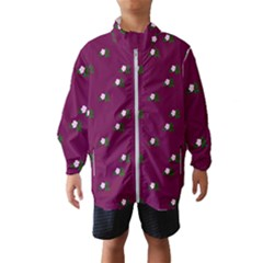 Pink Flowers Magenta Big Wind Breaker (kids)