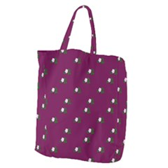 Pink Flowers Magenta Big Giant Grocery Zipper Tote