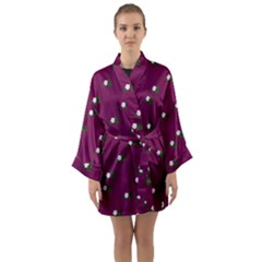 Pink Flowers Magenta Big Long Sleeve Kimono Robe