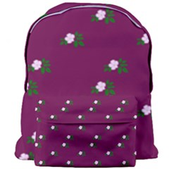 Pink Flowers Magenta Big Giant Full Print Backpack