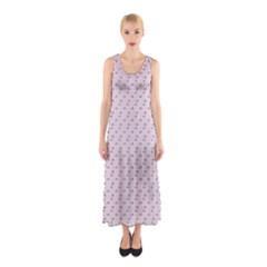 Pink Flowers Pink Sleeveless Maxi Dress