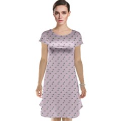 Pink Flowers Pink Cap Sleeve Nightdress