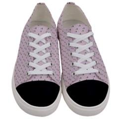 Pink Flowers Pink Women s Low Top Canvas Sneakers