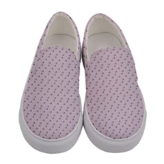 Pink Flowers Pink Women s Canvas Slip Ons