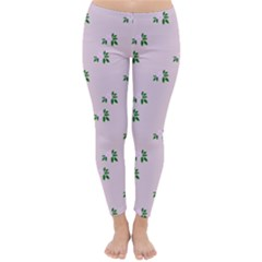 Pink Flowers Pink Big Classic Winter Leggings