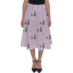 Pink Flowers Pink Big Perfect Length Midi Skirt