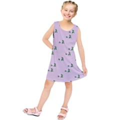 Pink Flowers Pink Big Kids  Tunic Dress
