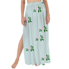 Pink Flowers Blue Big Maxi Chiffon Tie Up Sarong