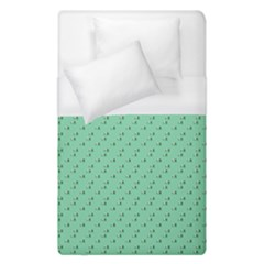 Pink Flowers Green Duvet Cover (single Size)