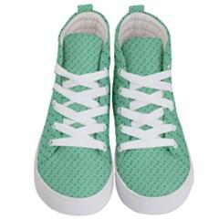Pink Flowers Green Kid s Hi Top Skate Sneakers