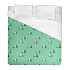 Pink Flowers Green Big Duvet Cover (full/ Double Size)