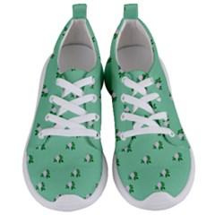 Pink Flowers Green Big Women s Lightweight Sports Shoes