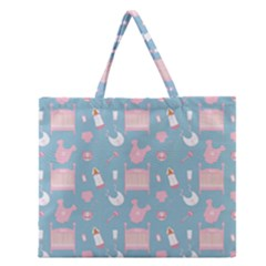 Baby Pattern Zipper Large Tote Bag