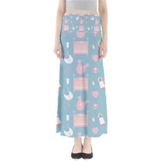 Baby Pattern Full Length Maxi Skirt