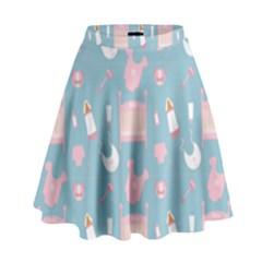 Baby Pattern High Waist Skirt