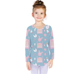 Baby Pattern Kids  Long Sleeve Tee