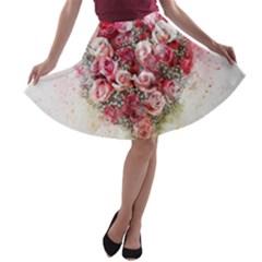 Flowers 2548756 1920 A Line Skater Skirt