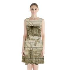 Lady 2523423 1920 Sleeveless Waist Tie Chiffon Dress