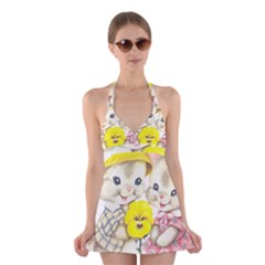 Rabbits 1731749 1920 Halter Dress Swimsuit
