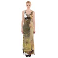 Vintage 1650586 1920 Maxi Thigh Split Dress