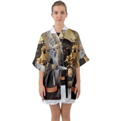 Owls 1461952 1920 Quarter Sleeve Kimono Robe