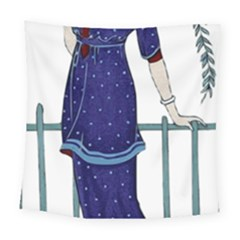 Lady 1318887 1920 Square Tapestry (large)
