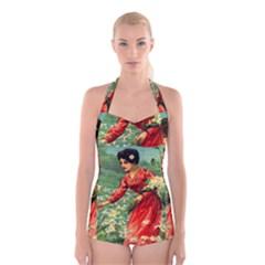Lady 1334282 1920 Boyleg Halter Swimsuit