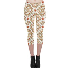 Colorful Modern Pattern Capri Leggings