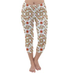 Colorful Modern Pattern Capri Winter Leggings