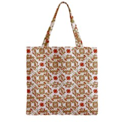 Colorful Modern Pattern Zipper Grocery Tote Bag
