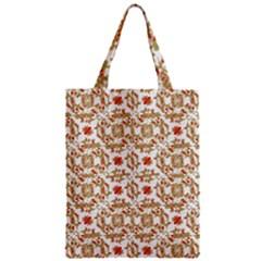 Colorful Modern Pattern Zipper Classic Tote Bag