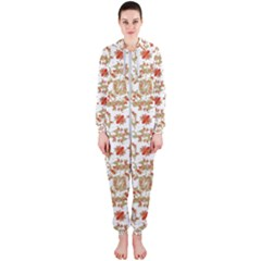 Colorful Modern Pattern Hooded Jumpsuit (ladies)