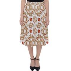 Colorful Modern Pattern Folding Skater Skirt