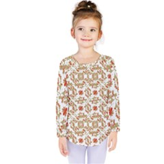 Colorful Modern Pattern Kids  Long Sleeve Tee