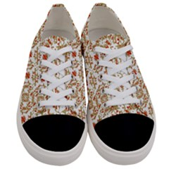 Colorful Modern Pattern Women s Low Top Canvas Sneakers