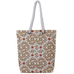 Colorful Modern Pattern Full Print Rope Handle Tote (small)