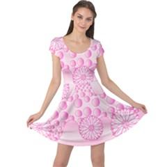 Amoebaflowerspink Cap Sleeve Dress