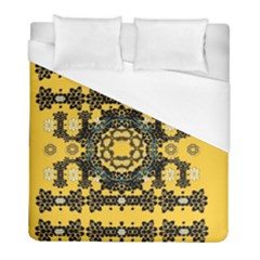 Ornate Circulate Is Festive In A Flower Wreath Decorative Duvet Cover (full/ Double Size)
