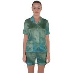 Background 1724652 1920 Satin Short Sleeve Pyjamas Set