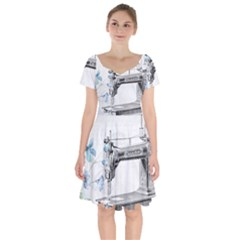 Vintage 1047275 1280 Short Sleeve Bardot Dress