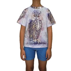 Bird 2552769 1920 Kids  Short Sleeve Swimwear