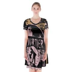 Bottle 1954419 1280 Short Sleeve V Neck Flare Dress