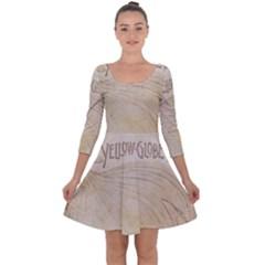 Background 1776456 1280 Quarter Sleeve Skater Dress