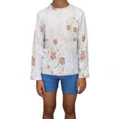 Floral Kids  Long Sleeve Swimwear