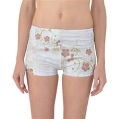 Floral Reversible Boyleg Bikini Bottoms
