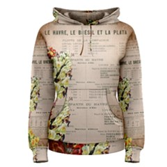 Letter Floral Women s Pullover Hoodie
