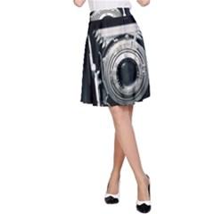 Photo Camera A Line Skirt