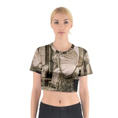 Flea Market Redord Player Cotton Crop Top